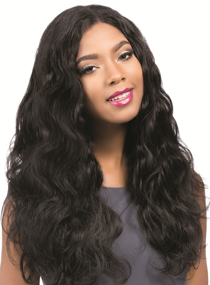 "Wig, Body Wave, Colour #1, - 18"", Brazilian"
